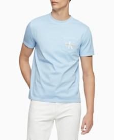 Calvin Klein Jeans Men's Garment-Dyed Monogrammed T-Shirt