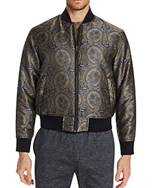 Men's Slim-Fit Ornate Reversible Bomber