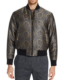 Tallia Men's Slim-Fit Ornate Reversible Bomber