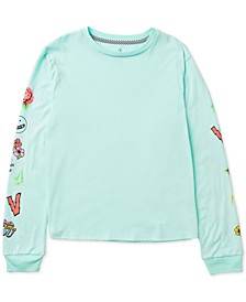 Big Girls Printed-Sleeve T-Shirt