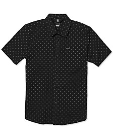 Big Boys Newmark Printed Cotton Shirt