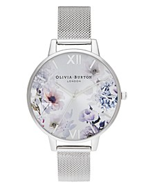 Women's Sunlight Floral Stainless Steel Mesh Bracelet Watch 38mm