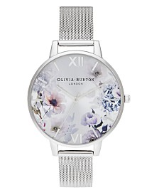 Olivia Burton Women's Sunlight Floral Stainless Steel Mesh Bracelet Watch 38mm