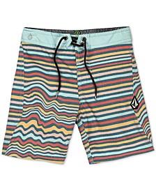 Little Boys Aura Stretch Stripe Swim Trunks