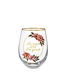 Twine Be Well and Do Good Stemless Wine Glass