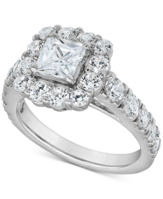 Certified Diamond Princess Bridal Set (4 ct. t.w.) in 18k White, Yellow and Rose Gold
