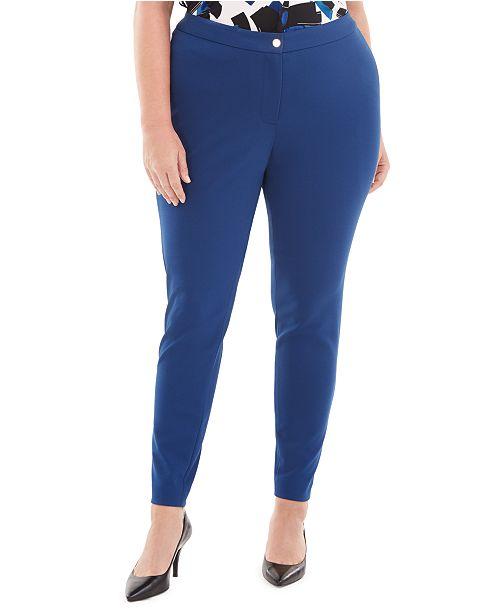 Calvin Klein Plus Size Skinny Ankle Pants