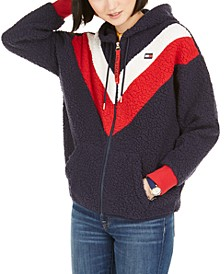 Faux-Sherpa Colorblocked Jacket