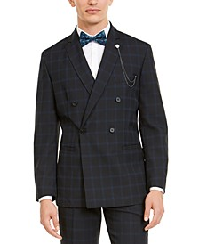 INC Men's Windowpane Blazer, Created For Macy's