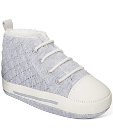 Baby Boys Sneakers With Faux-Sherpa Lining, Created For Macy's