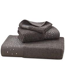 "Rhinestone Starburst Cotton 16"" x 26"" Hand Towel"