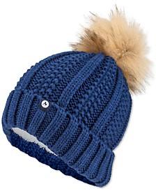 Marmot Bronx Faux-Fur Pom Pom Hat