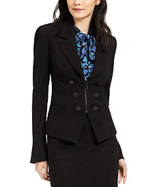 Nanette Lepore Ponté-Knit Flared Jacket