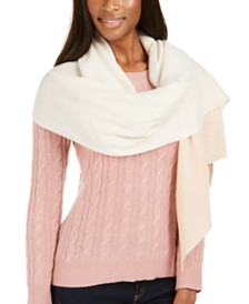 Charter Club Cashmere Oversized Bias Wrap, Created For Macy's