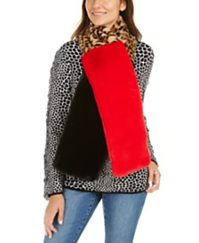 I.N.C. Colorblocked Faux-Fur Muffler Scarf, Created For Macy's