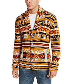 American Rag Men's Midwest Print Canyon Cardigan, Created For Macy's