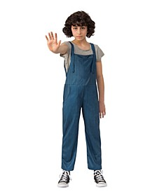 Toddler Girls Stranger Things 2 Kids Eleven's Overalls Child Costume
