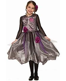 Big Girl's Sweet Skeleton Child Costume