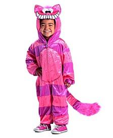 Big Girl's Cheshire Cat Jumpsuit Child Costume