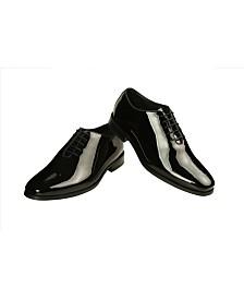Men's Patent Leather Toe Cap Oxford