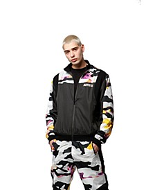 Ripstop Camo Track Jacket with Ergonomic Shoulder Inset