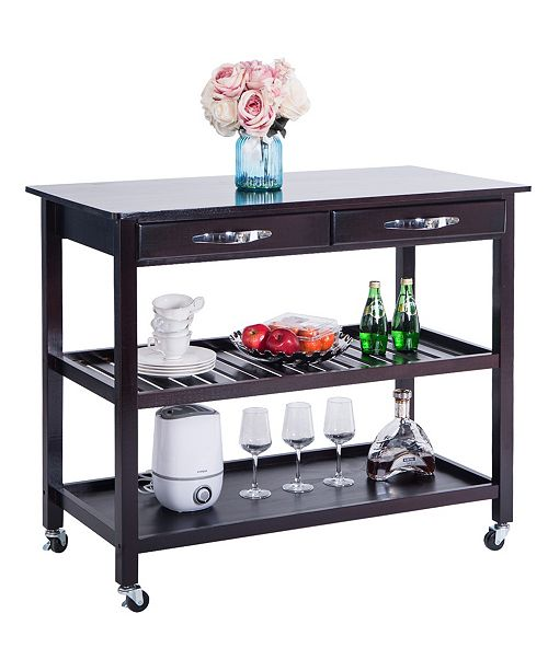 Kitchen Island Cart With Wheels And Drawers
