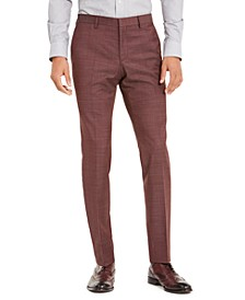 Men's Slim-Fit Medium Gray Check Suit Separate Pants