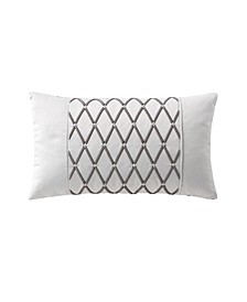 "Aidan 11"" X 20"" Embroidered Decorative Pillow"