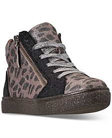 Little Girls JSPRINKL High Top Casual Sneakers from Finish Line