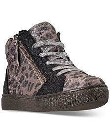 Steve Madden Little Girls JSPRINKL High Top Casual Sneakers from Finish Line