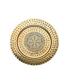 """12.5"""" Brass Round Plate"""