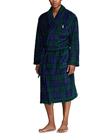 Men's Microfiber Plush Bath Robe