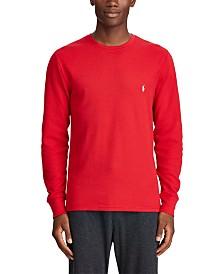 Polo Ralph Lauren Men's Big & Tall Long Waffle Crewneck Pajama Shirt