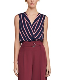 BCBGMAXAZRIA Striped High-Low Top
