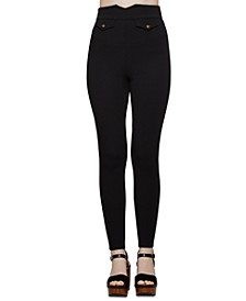 Notched-Waist Skinny Pants