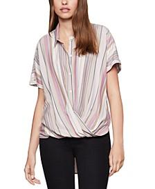 Striped High-Low Shirt