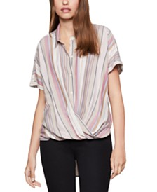 BCBGeneration Striped High-Low Shirt