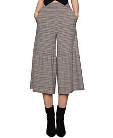 Plaid Culotte Pants
