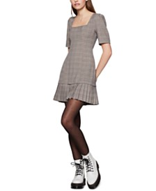 BCBGeneration Plaid Mini Dress
