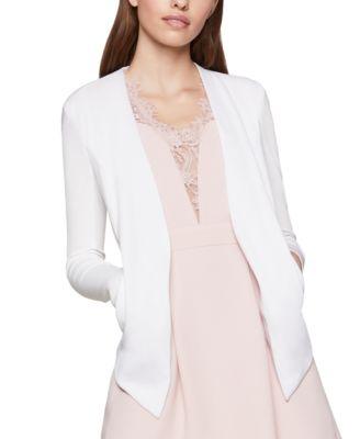 BCBGeneration Womens Tuxedo Knit Blazer Jacket