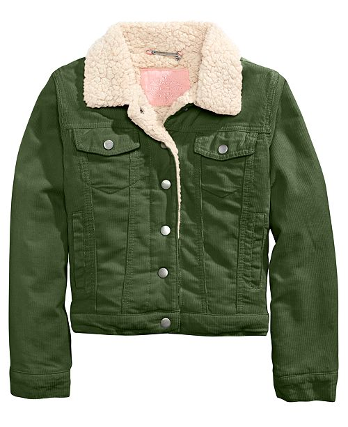 Jou Jou JouJou Big Girls Sherpa Fleece & Corduroy Jacket