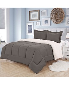 Sweet Home Collection Sherpa 3-Pc. Twin Comforter Set