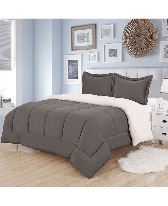 Sweet Home Collection Sherpa 3-Pc. King Comforter Set