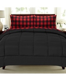 Sweet Home Collection Buffalo Check 5-Pc. Sheet and Comforter Sets
