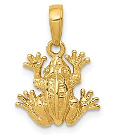 Frog Pendant in 14k Yellow Gold