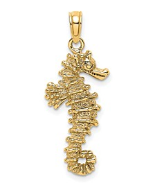 Sea Horse Pendant in 14k Yellow Gold