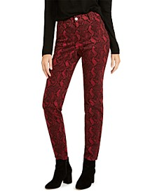 INC INCEssential Snake-Print Curvy Skinny Jeans, Created For Macy's