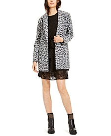Tiered Lace Dress & Brushed Leopard-Print Jacket