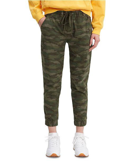 Levi's Women's Camouflage Print Drawstring-Waist Jogging Pants