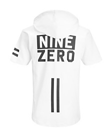 Jack & Jones Men's High Summer  Short Sleeved Zip Sweat Hoodie With Back Print Details
